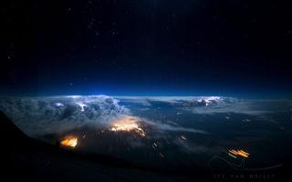 Вид из самолета: из кабины пилота, из окна — фото