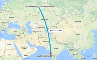 Сколько лететь до гоа из нижнего новгорода прямым рейсом