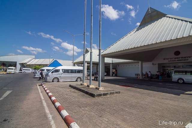 Аэропорт Краби на карте Тайланда