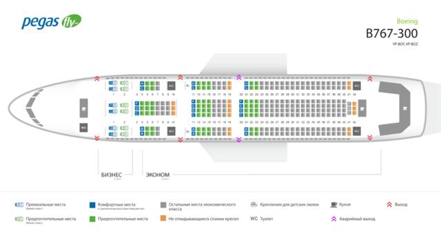 Боинг 767-300: схема салона, лучшие места
