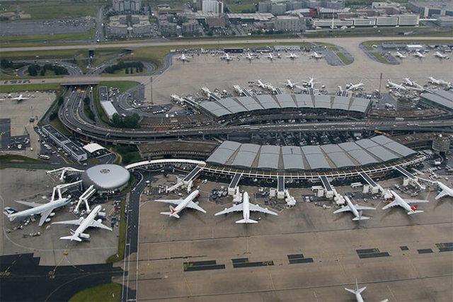 Аэропорт Шарль де Голль схема терминалов на карте Парижа
