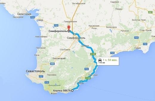 Как добраться до аэропорта Симферополя из Алупки