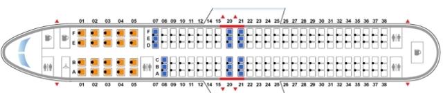 Боинг 737-900: схема салона, лучшие места
