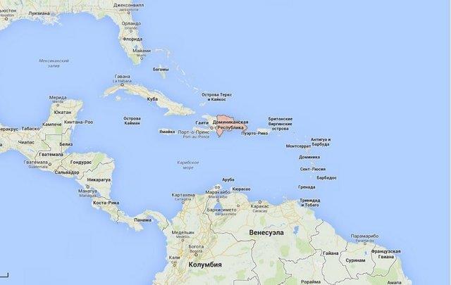 Где находится Доминикана на карте мира: сколько лететь
