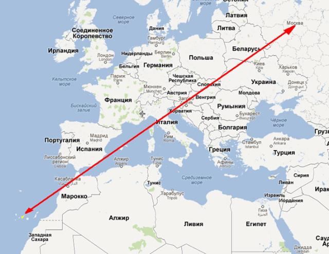 Сколько лететь до Канады из Москвы