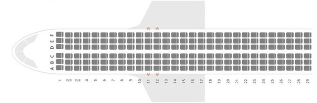 Аэробус А320: схема салона, лучшие места Аэрофлот