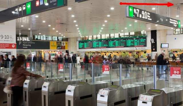 Камера хранения в аэропорту Барселоны
