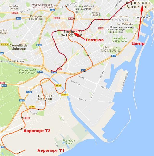 Как добраться до аэропорта Барселоны из Барселоны и обратно