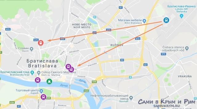 Сколько лететь до Братиславы из Москвы