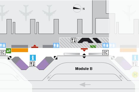 Аэропорт Мюнхена на карте: схема терминалов