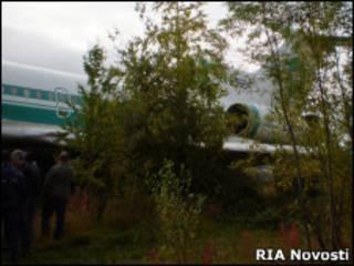 Аварийная посадка Ту-154 в Ижме