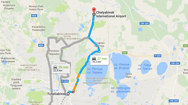 Как добраться до аэропорта Челябинска из Челябинска