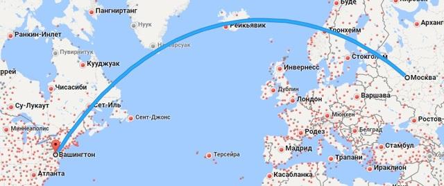 Сколько лететь до Вашингтона из Москвы