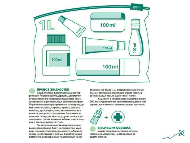 Провоз жидкостей в ручной клади: нормы и правила, сколько можно провозить