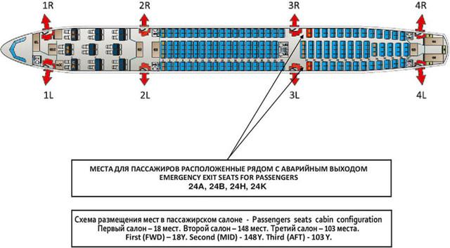 Аэробус А330-200 схема салона Аэрофлот лучшие места
