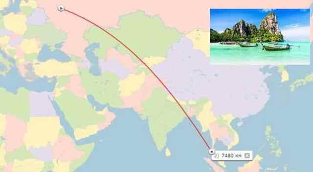 Сколько лететь до Пхукета из Москвы прямым рейсом