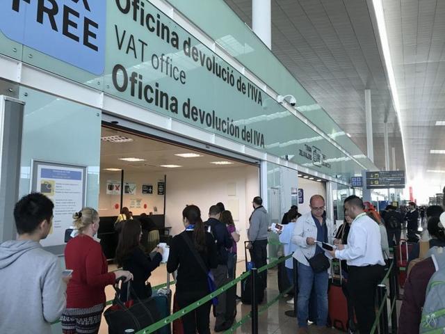 Возврат Такс Фри в аэропорту Барселоны