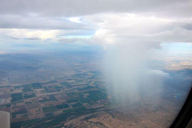 Вид из самолета: из кабины пилота, из окна - фото