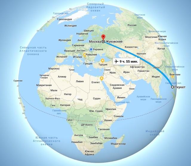 Сколько лететь до Тайланда из Москвы прямым рейсом
