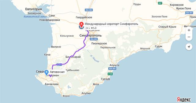 Как доехать до Севастополя из аэропорта Симферополя