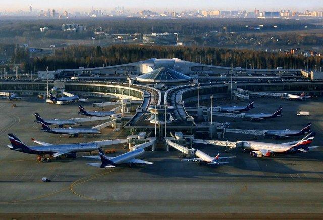 Аэропорт Шереметьево на карте