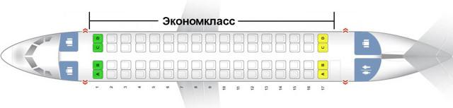 cамолет АТР 72: фото, схема салона, лучшие места